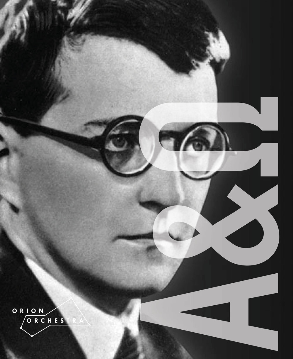 Alpha &Omega - 3 - Tuesday 9th October, 2018Shostakovich Symphony No. 1Shostakovich Symphony No. 15