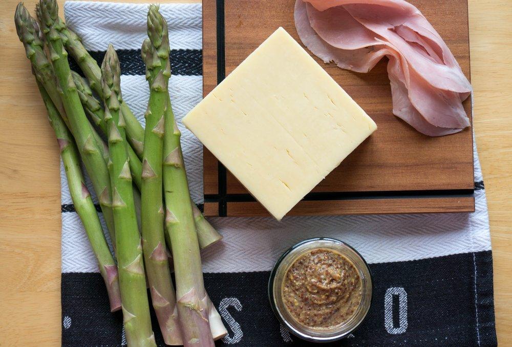 Asparagus Ham & Cheese Tart