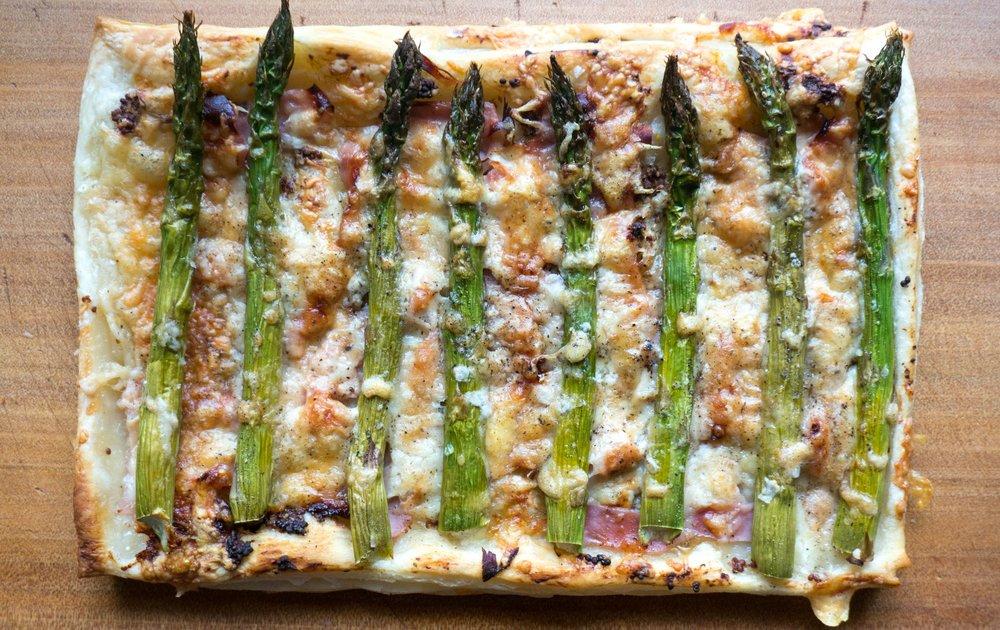 Asparagus, Ham & Cheese Tart