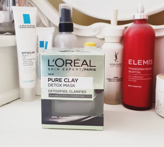 L'Oreal Pure Clay Charcoal Detox Face Mask