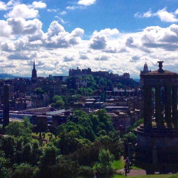 The view from Calton Hill Edinburgh