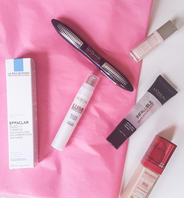 Basic Skincare, La Roche-Posay, Bourjois Concealer, Primer and Mascara