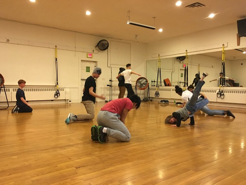 Deo teaching dance at Movement From Above dance program