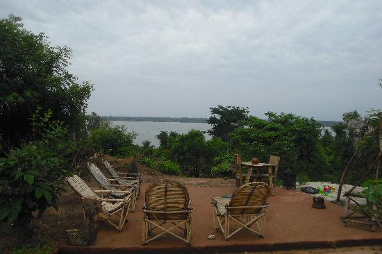 Paradise lake in Benin over seeing Togo.