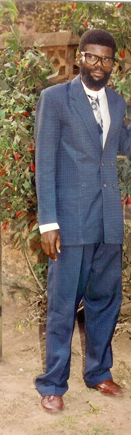 Deo's father in the Congo in 1995.