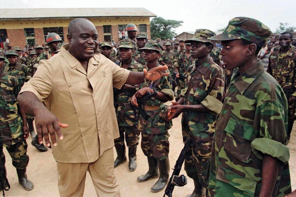 Laurent Kabila and his rebel soldiers in 1996. Image Corninne Dufka/Reuters:http://www.newsweek.com/history-written-blood-63179