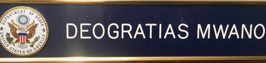 National passport desk name plate