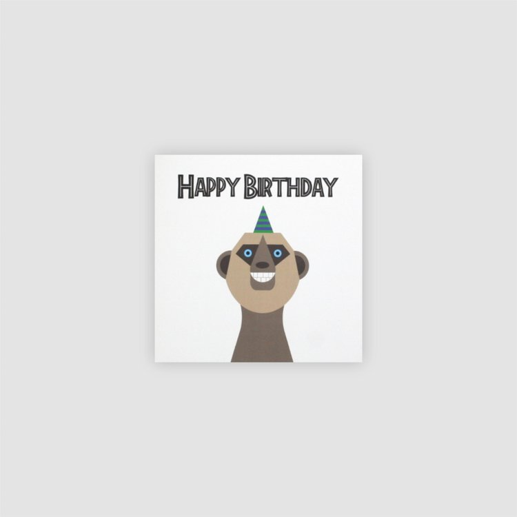 Jollysmith Meerkat Birthday Card
