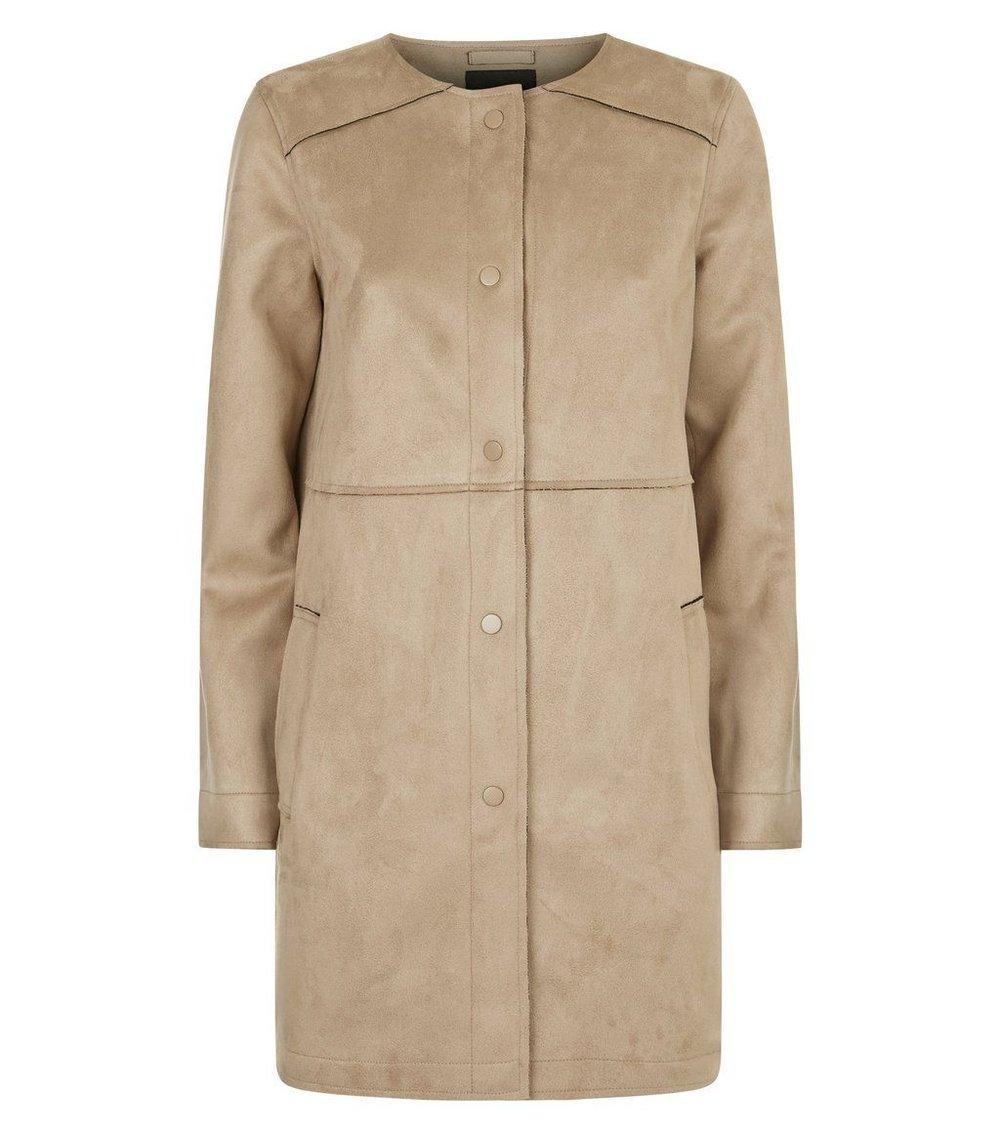 Suedette Longline Coat - £44.99