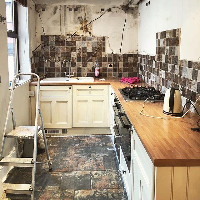 Kitchen is no more... kinda #homedecor #renovation