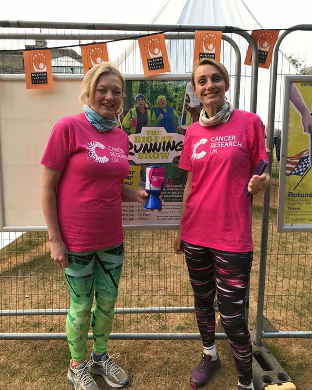Great to help raise funds for Cancer Research @CR_UK with Big Fat Running Show