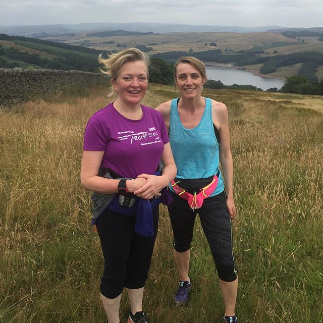 Enjoying our time @buxtonfringe. Finally got out on a run in the beautiful Goyt Valley. See! We put our bigfatrunning where our big fat mouths are! #trailrunning #sisugirls