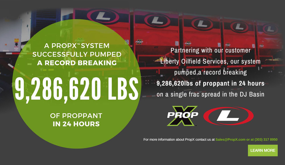 A PropX System Successfully Pumped a Record Breaking 9,286,620 lbs proppant in 24 hours