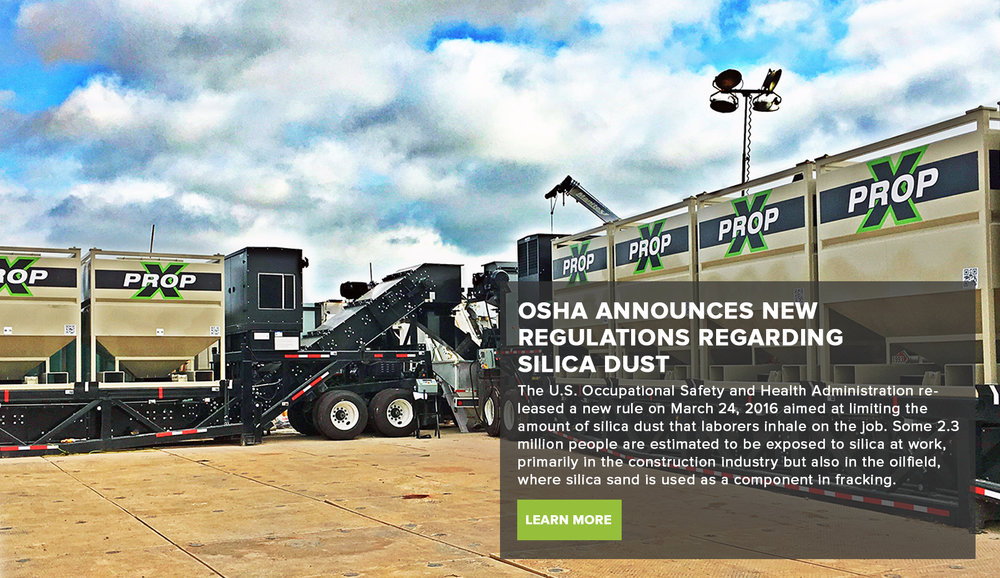 OSHA ANNOUNCES NEW REGULATIONS REGARDING SILICA DUST