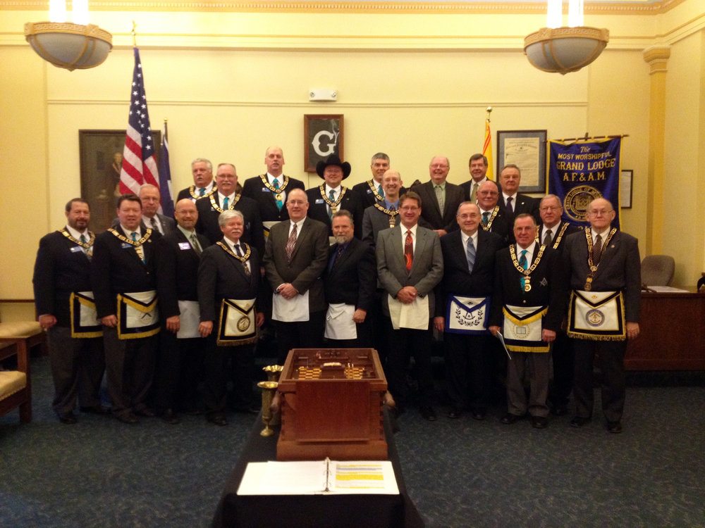 Chartering Albert Pike Lodge, March 15, 2014.
