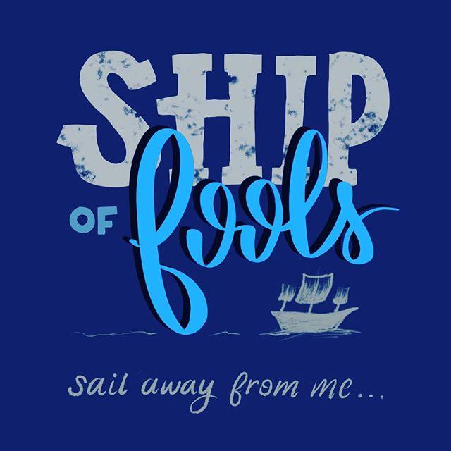 Ship of fools on a cruel sea🌊 ... . . . .  #handlettering #gratefuldead #gratefuldeadlyrics #calligraphy #ipadpro #procreate #lettering #shipoffools #bobweir #stayweird #jerrygarcia #deadheads #typografi #typography #type #ipadlettering #applepencil #lyriclettering #lyricsnletters