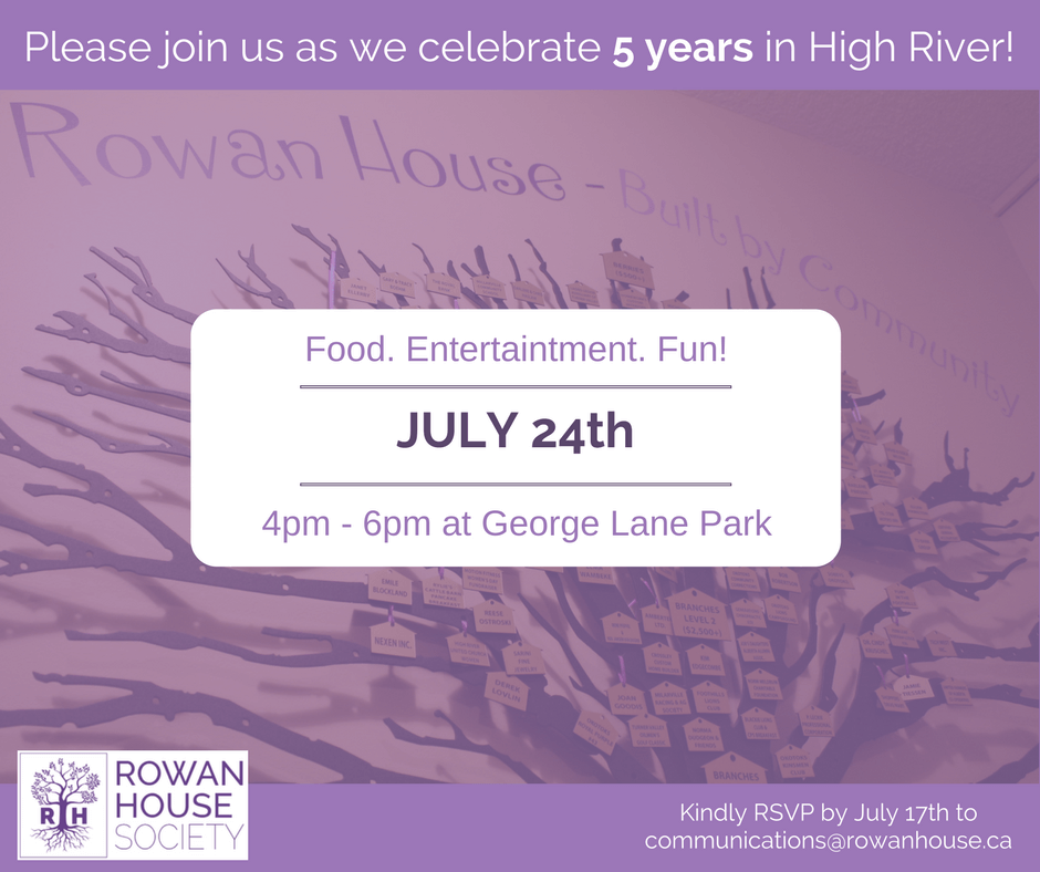 From opening our new shelter in 2012, rebuilding after the flood and expanding our services to support more families in our communities - we couldn't have done it without you! We hope you will join us as we celebrate 5 amazing years in High River.
