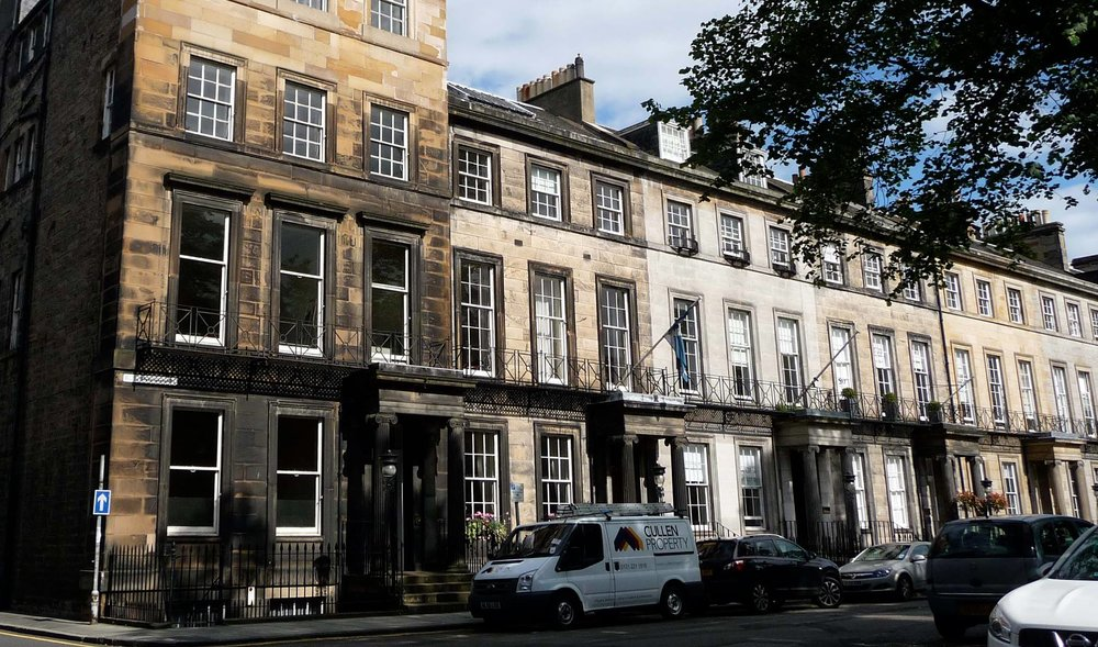 The scottish arts club in rutland square, in central Edinburgh