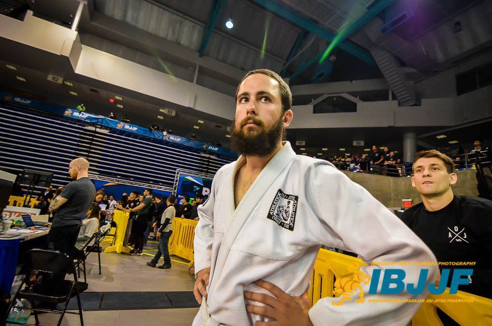 At the IBJJF Pan Ams Jiu Jitsu Tournament at UC Irvine where Rabbi B won                                a bronze medal in the Featherweight Division