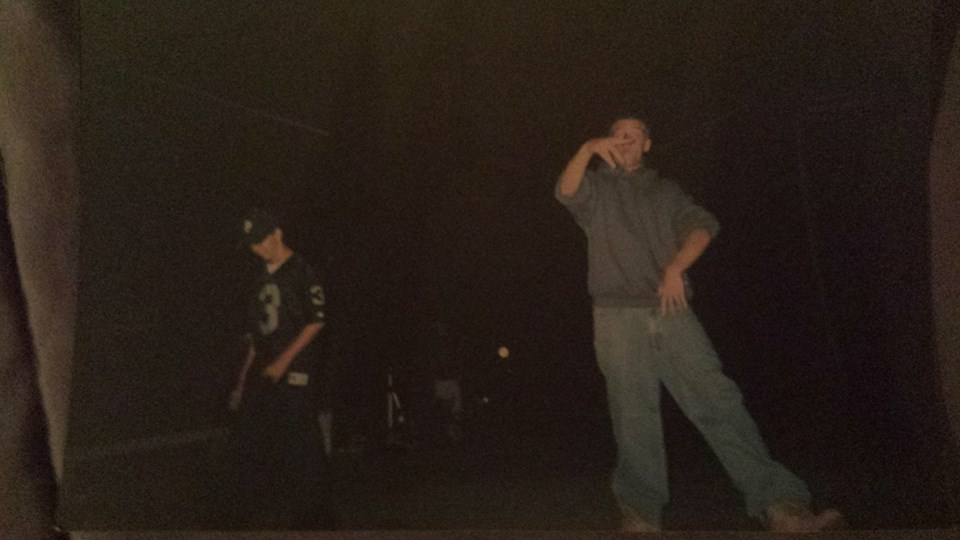 On left, 14 yr old me, freestyle rapping at a talent show. Right, Don C of the Arch Druids