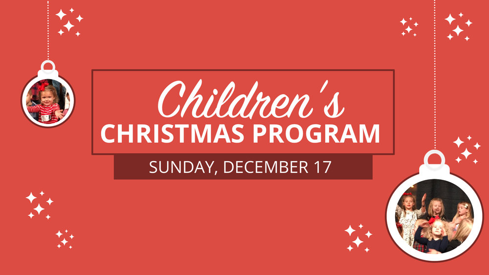 Children\'s Christmas Program — Providence North