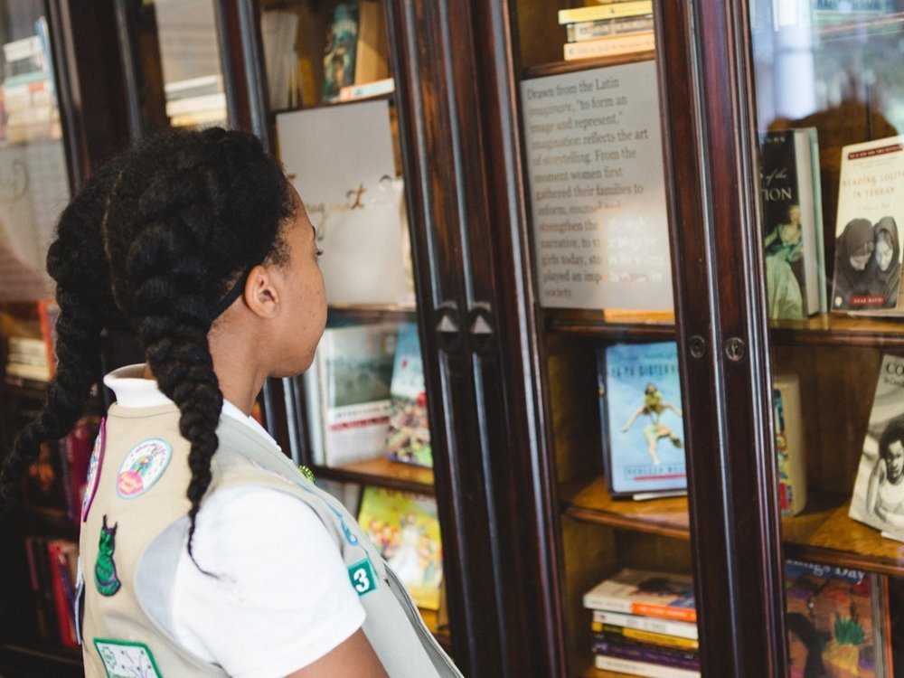 Honorable Mention    Girls Writing the World: A Library ReImagined    Juliette Gordon Low Birthplace/ Girl Scouts of the USA, Savannah, GA   for creating a big change in a small package