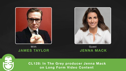 Jenna discusses Long Form Video Content with host James Taylor.