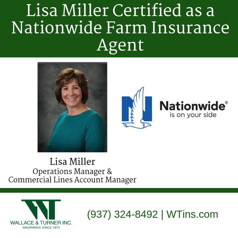 Lisa Miller Becomes Certified As A Nationwide Farm Insurance Agent Wallace Turner Insurance