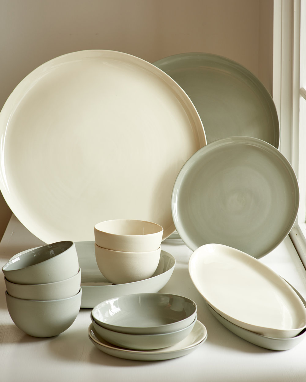 Ceramic dinnerware, serving pieces, from $38