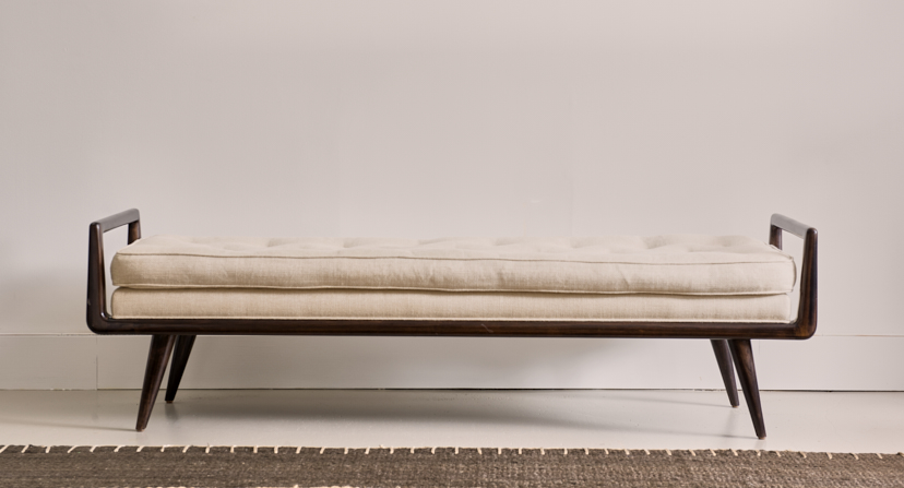 Hubert Bench, available in two finishes $3400