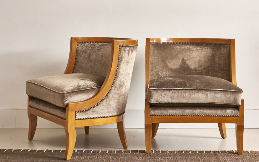 Spoonback Empire style chairs, $3800, the pair