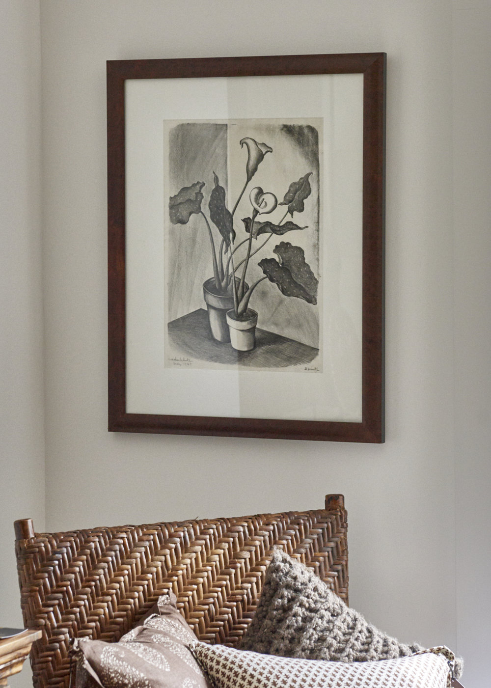 Lithograph of calla lilies, c. 1927, $2400