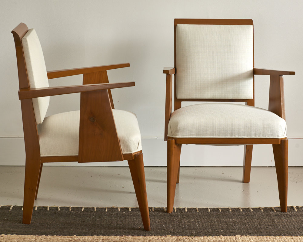 Petit Moderne armchairs, French c. 1940, $XXX the pair