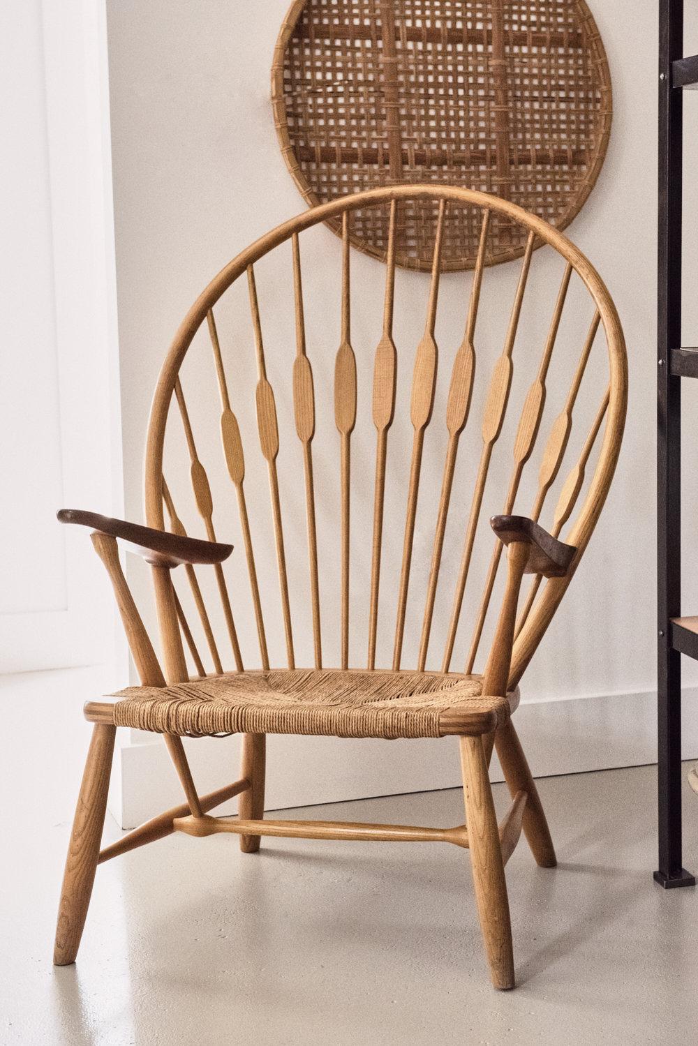 Original Hans J. Wegner peacock chair, Johannes Hansen c. 1947, $4800