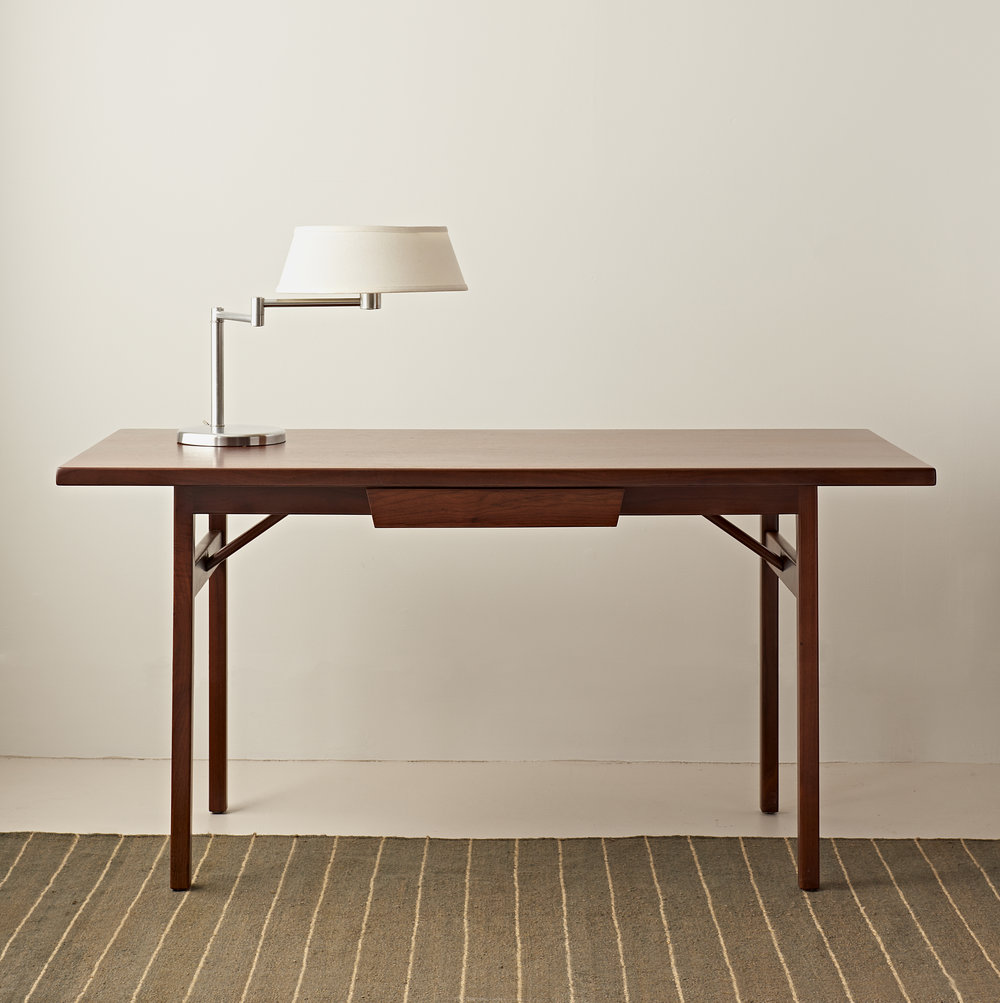 Walnut desk by Jens Risom, c 1950, $4800