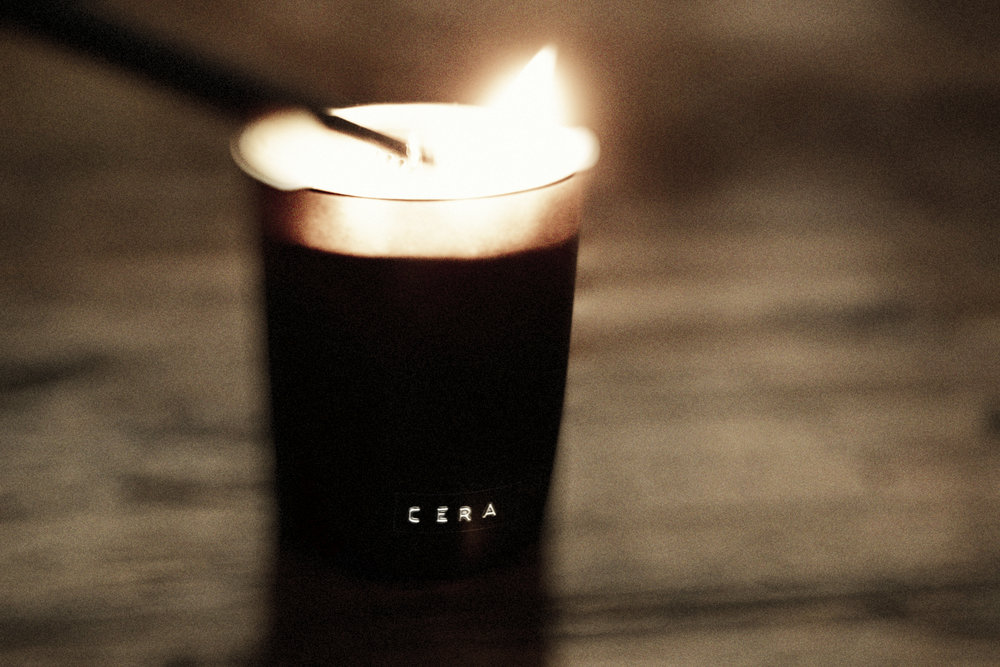 Cera, small batch candles, imported, from London $55
