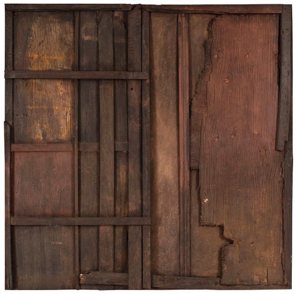 Carlos Rojas Puerta escondida de la Serie Mutantes 1991  Mixta sobre madera y lienzo 170 x 170 cm..jpg