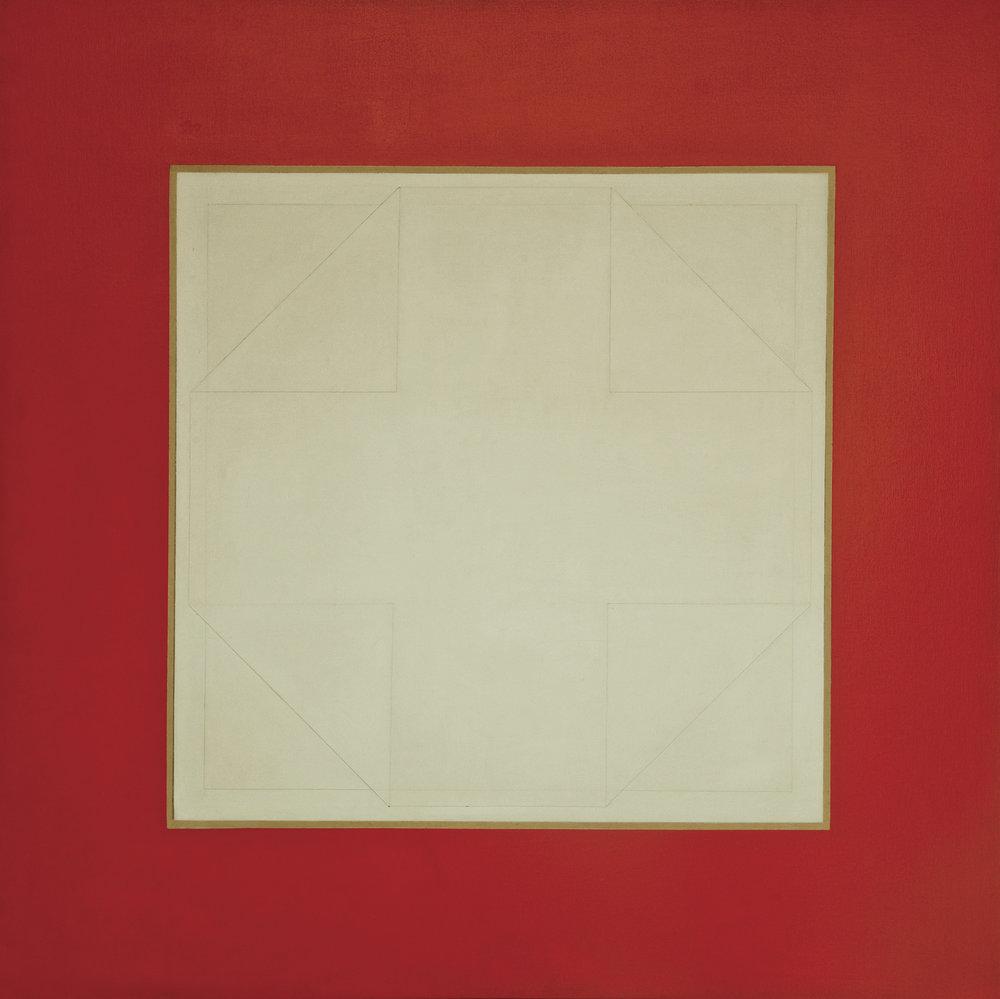 Rafael Echeverri sin titulo rojo AcrilicoTela 100x100cms 1983.jpg