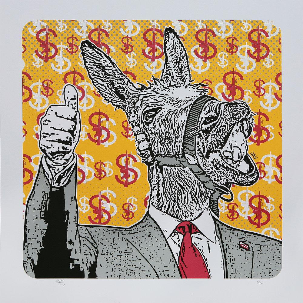 Burro Político (2018) - 50x 50 cms - Serigrafía / Screenprint