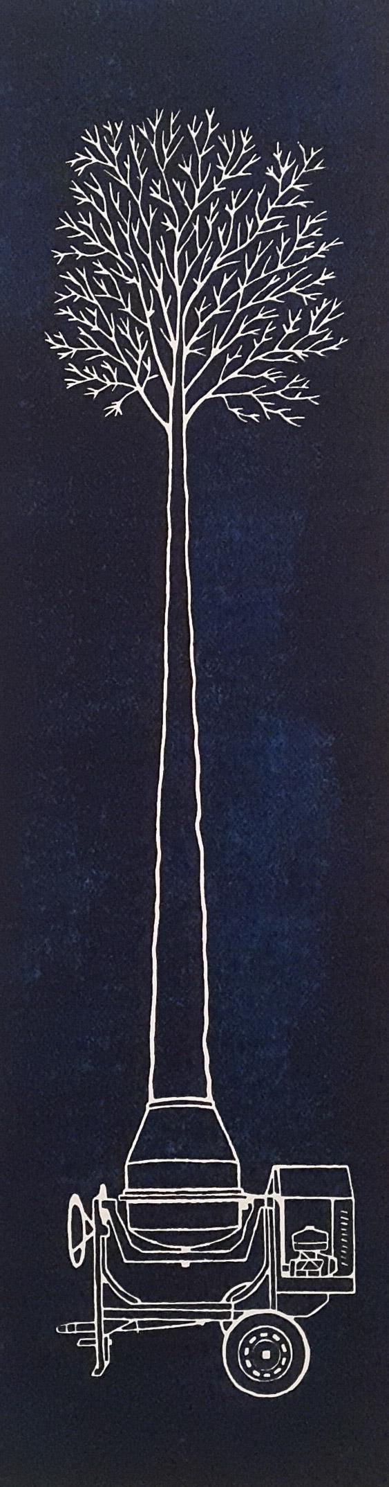 S. T (2016) - 70 X 33 cm - Xilografía / Xilography