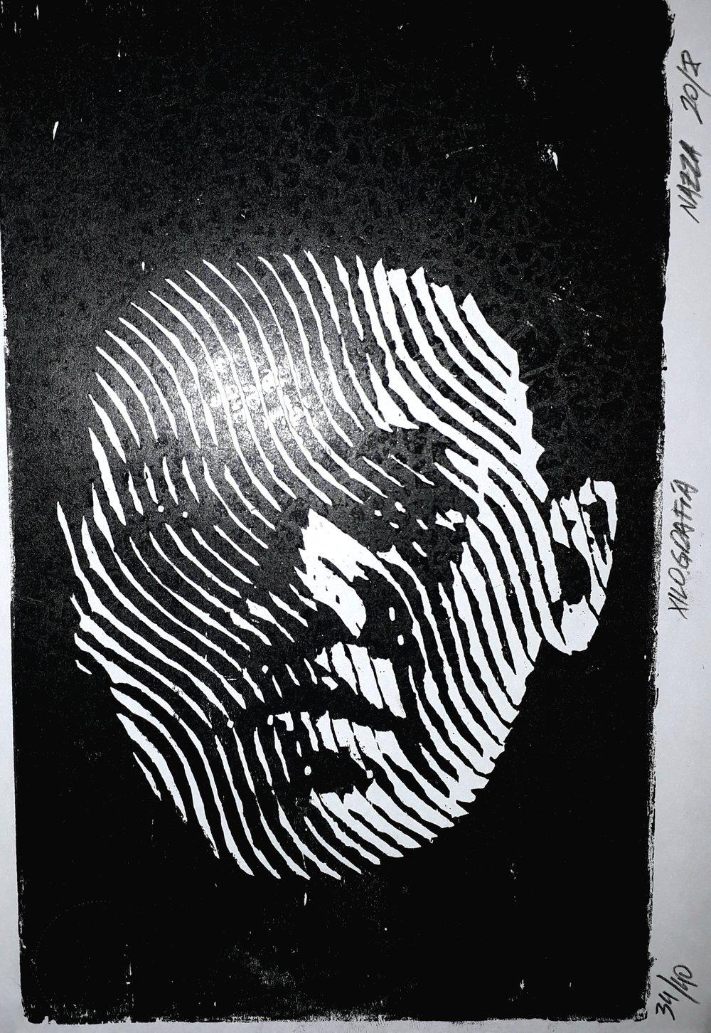 S.T (2018) - 29.5 x 21 cm - Xilografía a una tinta sobre papel / one ink xilography on paper