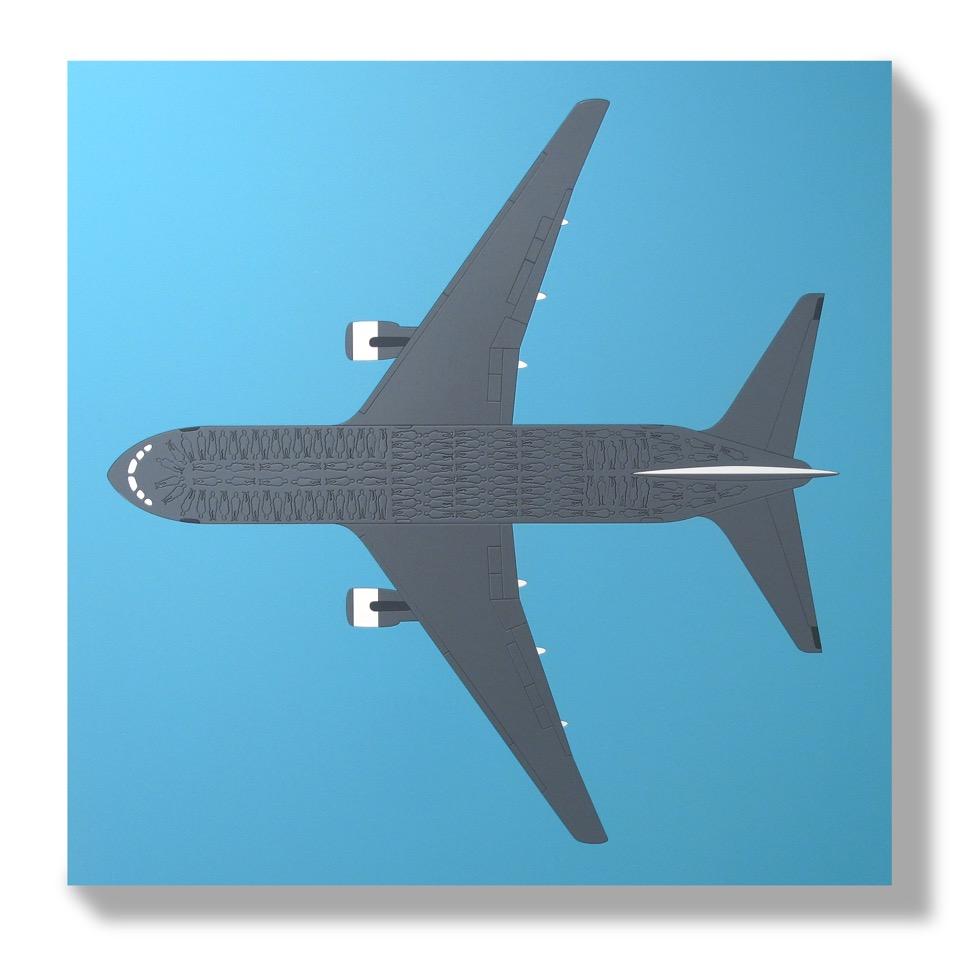 Low Cost Flight (2015) - 58 x 58 cm - Paneles Encastrados / embedded panels