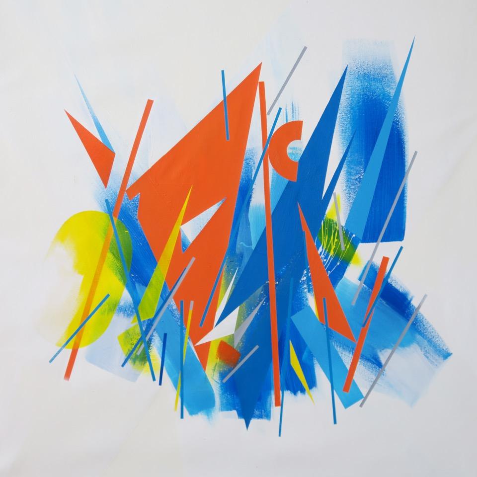 Polar (2017) - 86 x 86 cm - Acrilico sobre lienzo - Acrylic on canvas