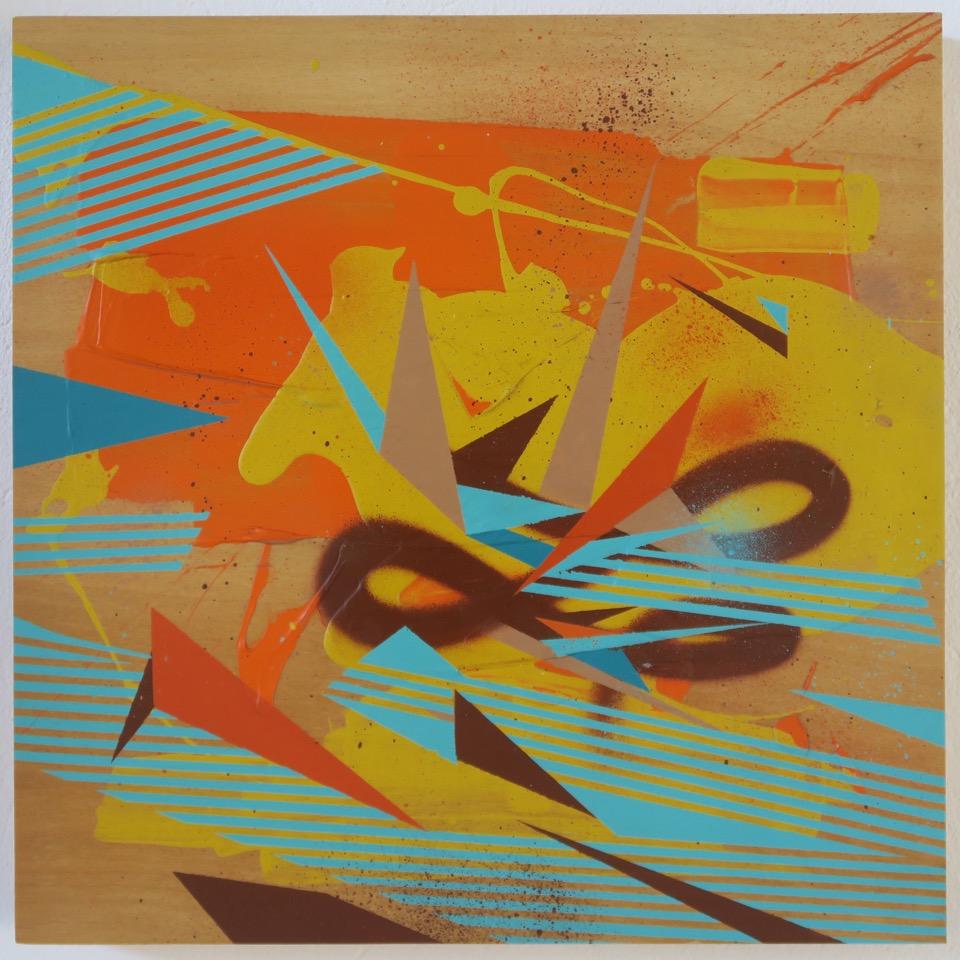 Algoritmo (2012) - 50 x 50 cm - Aerosol en madera / Aerosol on wood