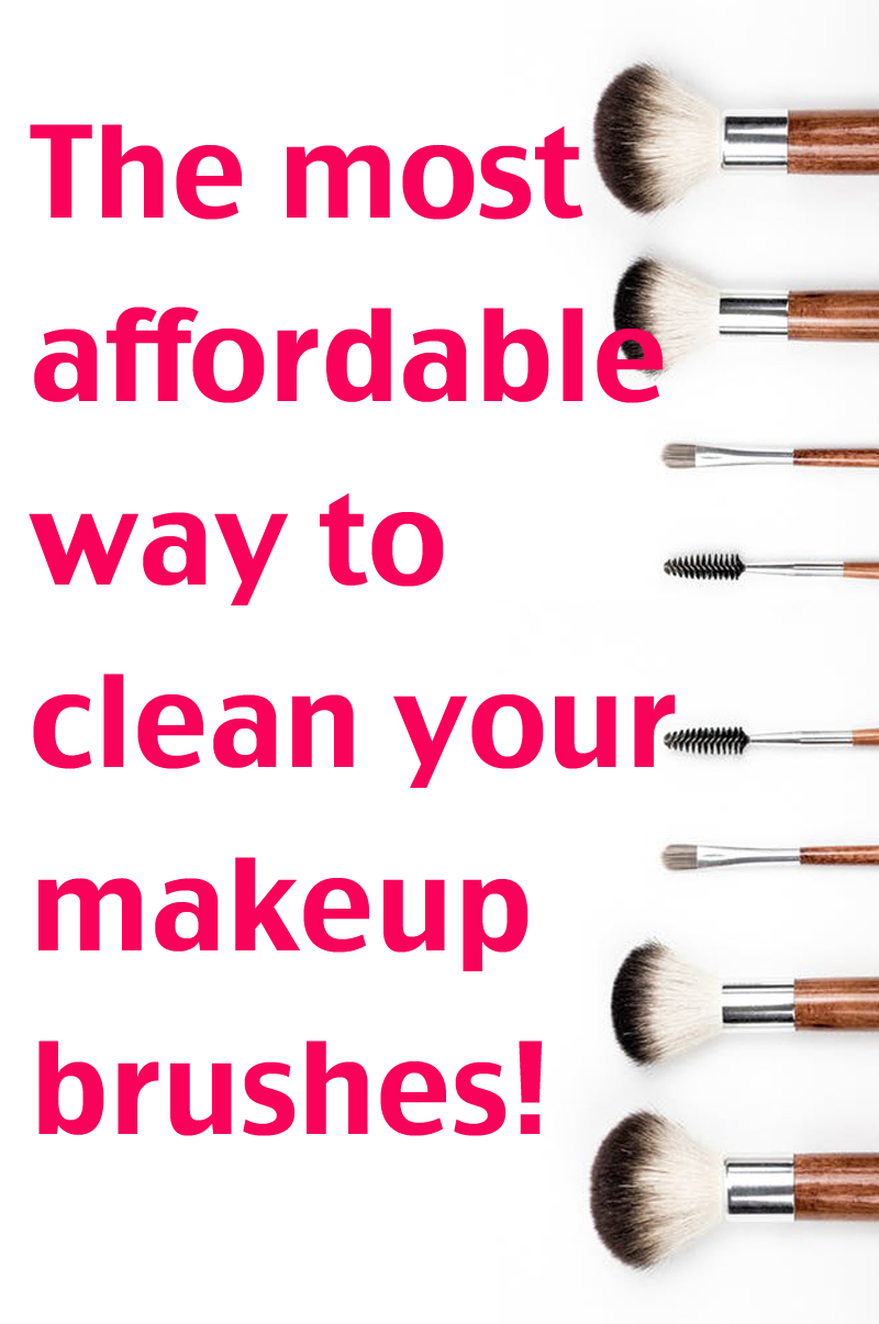 cheapest way to clean makeup brushes