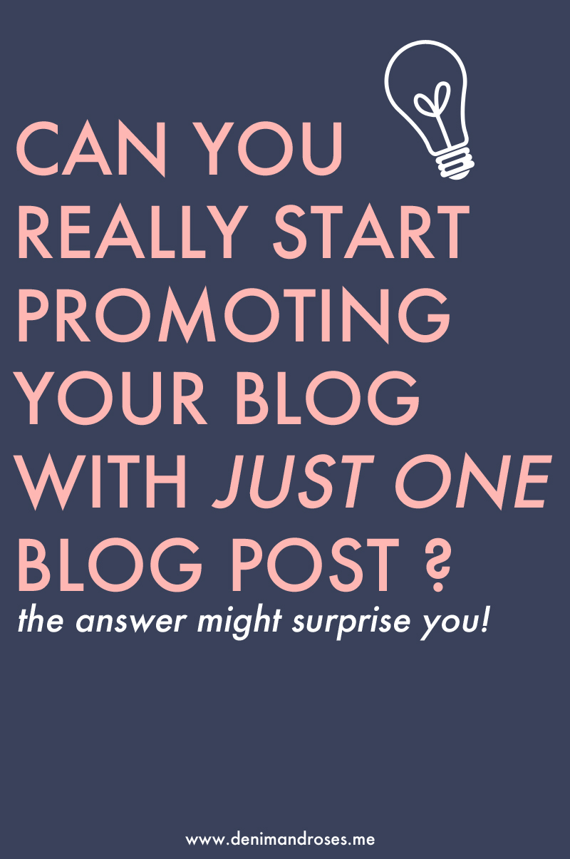 when to start promoting a blog