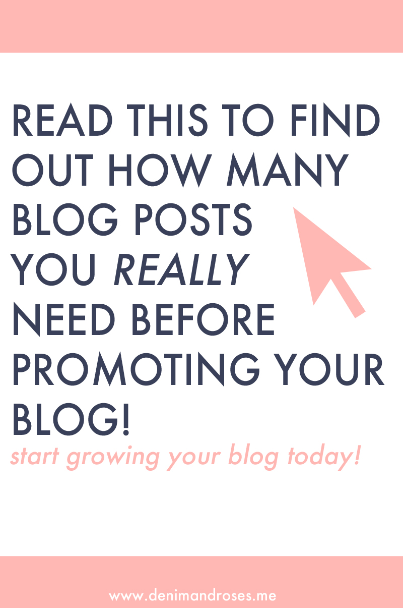 how many blog posts does a blogger need before promoting their blog on social media