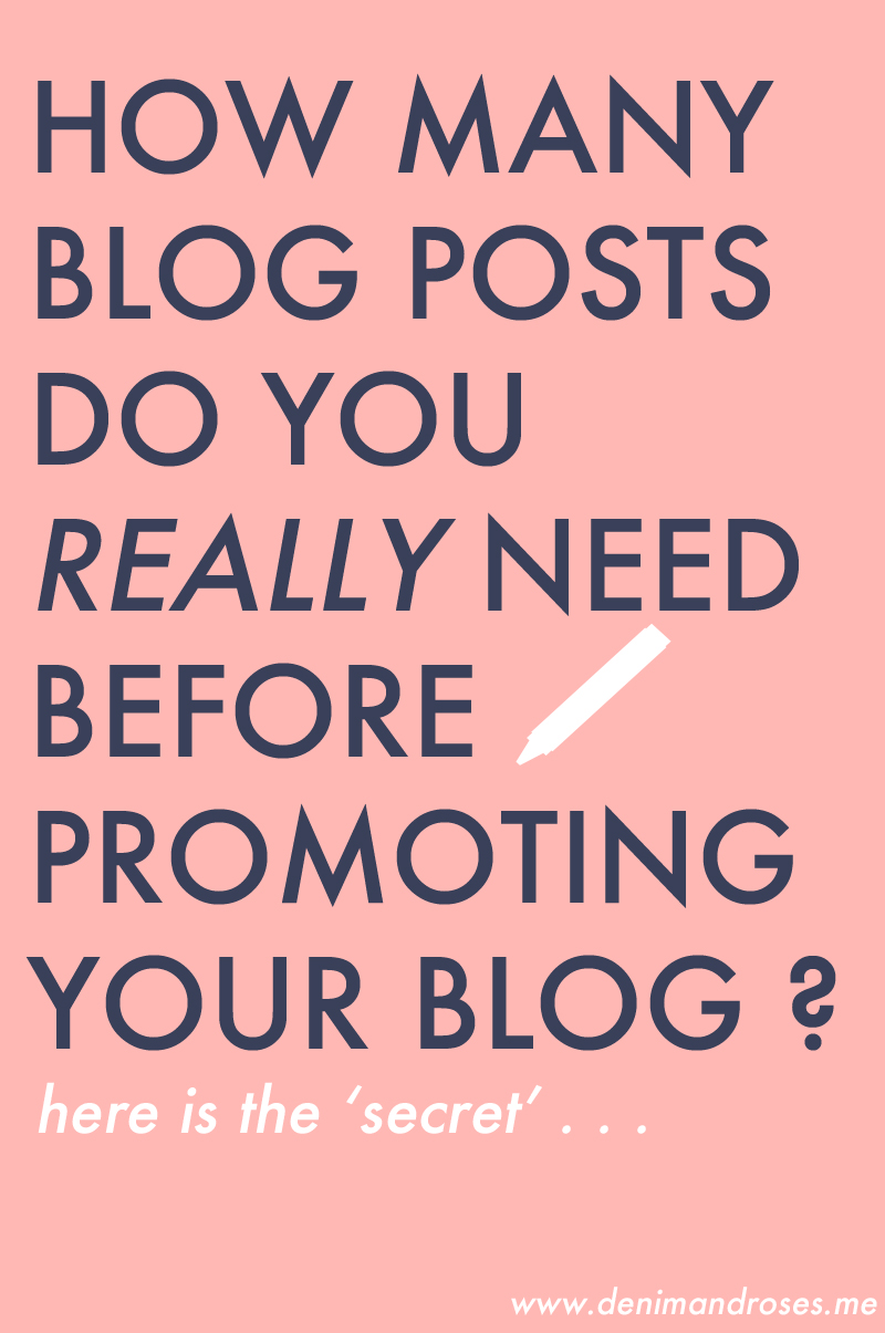 how many blog posts does a blogger need before promoting their website