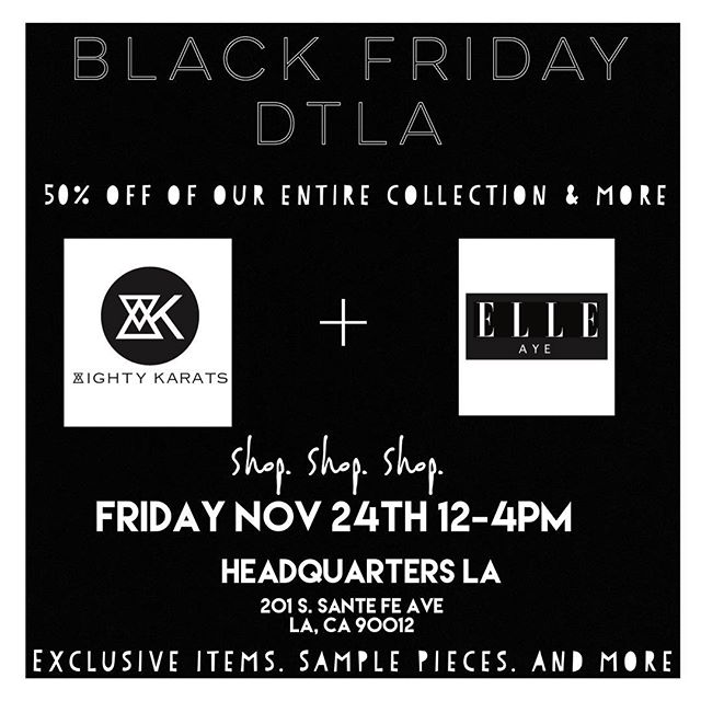 This Friday, 12-4PM, Shop & Save, @theheadquartersla with @unintendidthebrand @bellenbrand  Everything is 50% OFF or More, you don't want to miss it.