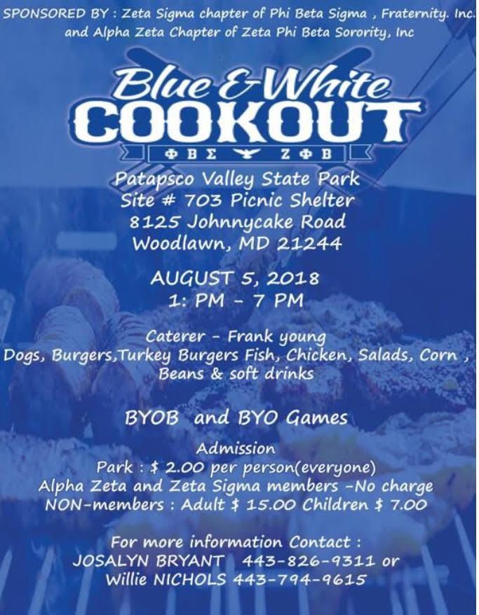 Blue and White Cookout